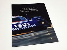 1992 Nissan NX 2000 200 SX SE 300 ZX Turbo Advertising Insert Brochure