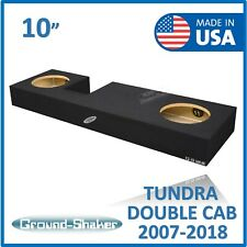 "Toyota Tundra Double cab 10"" Dual subwoofer enclosure Ground-shaker Sub Box"