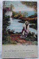 On the Banks of Allan Water (2) Postcard Bamforth Song Card 4502/2 VTG