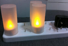 12pcs LED Flickering Rechargeable Tea Lights Candle set Wax-less Flameless