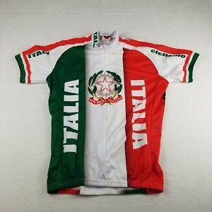 World Jerseys Italy Italia Size M Bike Cycling Ciclismo Adult Orange Green