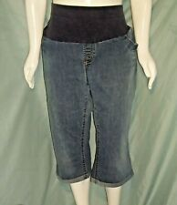 """Size 3X American Star blue extended belly band jeans capri's Waist 44"""" X Ins 18"""""""