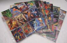 1993 Marvel Masterpiece Skybox Cards Complete Set 1-90 + 2099 Dyna Etch Foil