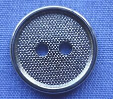 15mm Silver 2 Hole Button