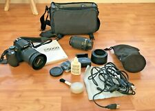 Nikon D5000 DSLR, Two Lenses, Manual, Accessories, Cleaning Kit, and Case