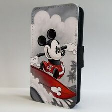 Mickey Mouse Vintage Art Surfing Disney FLIP PHONE CASE COVER for IPHONE SAMSUNG