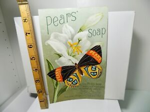 Pears Soap 3D Butterfly Advertising Trade Card Ephemera c1900s