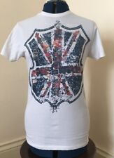 Ladies Union Jack T Shirt Size Small 100% Cotton
