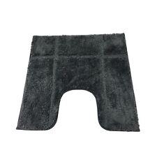 Bordered Slate 1600gsm Microfibre Anti-slip Pedestal Mat 50 X 50cm