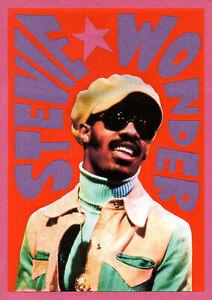 STEVIE WONDER. Mini poster. Tamla Motown, Soul.