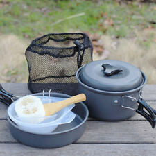 Portable Camping Cookware Kit Outdoor Backpacking Hiking Cooking Equipment Set