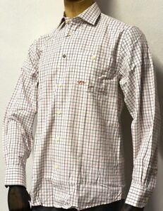 Blaser Long Sleeved Brown Black Oxford Cotton Shirt