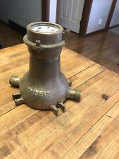 Vintage Brass Neptune Trident Brass Water Meter Steampunk New York  USA
