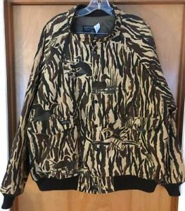 MENS VINTAGE RATTLERS BRAND XL DUCKS UNLIMITED QUILT LINED CAMO JACKET EXCELLENT