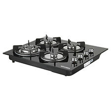 """24"""" Black Tempered Glass 4 Burners Kitchen Stove Lpg/Ng Gas Hob Cooktop Cook"""