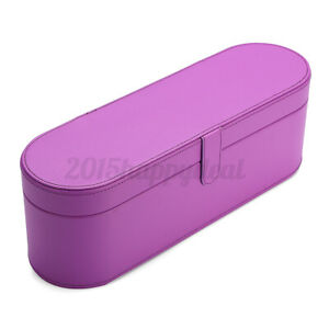 Purple Leather Hair Dryer Hard Case Storage Carry Box For Dyson Supersonic HD01