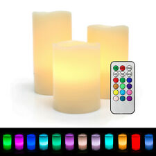 Flameless Flicker LED Battery Operated Votive Candles w/ Remote and Timer 3-Pack