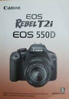 Spanish Canon EOS Rebel T2i Instrucciones Manual User Guide