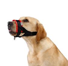 Quick Fit Nylon Dog Muzzle, Adjustable Loop (Red/Black - Large)