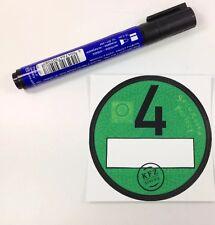 1 x Feinstaubplakette / Spassplakette / Umweltplakette & 1x UV beständige Marker