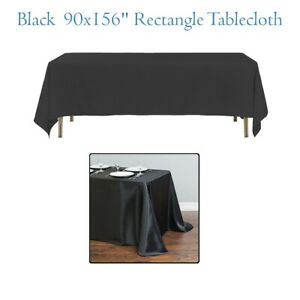 90 x 156 Inch Rectangle Plain Table Cloth Cotton Wedding Dining Tableware