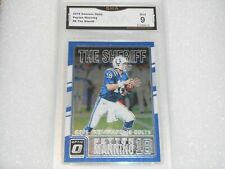 Peyton Manning GRADED CARD!! Mint 9!! 2016 Optic #8 Insert Colts Broncos MVP%