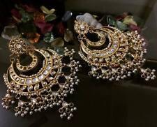 Indian Designer Bollywood Fashion Gold Tone PartyWear Kundan Earring  Set