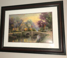 Thomas Kinkade : Hand Signed Numbered Lithograph Titled Lamplight Manor