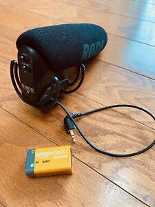 Rode VideoMic Pro R Camera Mount Shotgun Microphone  + NEW 9v Battery