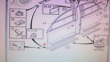Genuine Volvo S40, V50 Right Front Lower Trim Moulding OEM 39987037