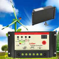 10/20/30A PWM Solar Panel Charge Controller Battery Regulator Auto 12V/24V ST
