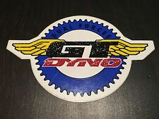 NOS VINTAGE 1980'S GT DYNO DUAL FORCE RED/BLUE/YELLOW BMX STICKER
