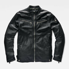 Genuine G-Star Raw 'Mower' Slim Leather Jacket - Real Leather - Mens Size Small.