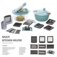 Multischneider Set 20tlg  Gemüseschneider Allesschneider Küchenreibe Gemüsehobel
