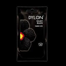 Noir Velours Dylon Teinture Main 50g Tissu Coton Linge Vêtements Matériel couleur jean
