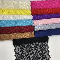 1Yard 7'' Elastic Band Lace Trim Underwear Stretchy Ribbon Clothing Sewing DIY
