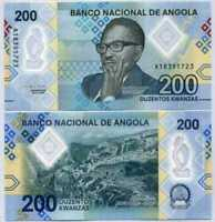 ANGOLA:  200 Kwanzas Banknote, 2020, P-New, Polymer UNC > Complete New Family