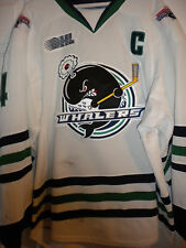 "2013-14 OHL PLYMOUTH WHALERS ""C"" NICK MALYSA WINTER CLAS GAME WORN HOCKEY JERSEY"