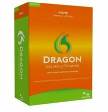 Dragon Naturally Speaking Home 12 Software Headset PC Windows10 Compatable