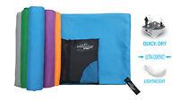 Microfibre Sports Travel Towel with Compact Case. Large 140x70cm, Medium 90x50cm