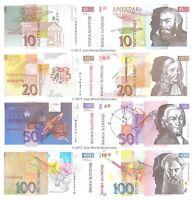 Slovenia 10 + 20 + 50 + 100 Tolarjev 1992 - 2003 Set of 4 Banknotes 4 PCS UNC