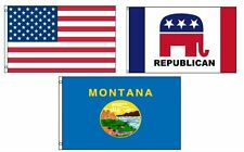 3x5 American & Republican & State of Montana Wholesale Set Flag 3'x5'