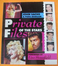 BOOK LIVRE PRIVATE FICHIERS OF THE STARS Madonna George Michael pas de cd lp dvd