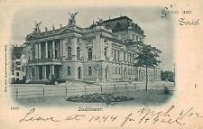 Gruss aus Zurich,Switzerland,Stadttheater,Used,1902
