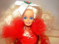 Mattel~Vintage 1988 Happy Holiday Barbie Doll~Comes w/ Original Stand~Dress~