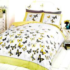 B046 Stunning King Size Butterfly Flutter Yellow/Lemon Fashion Pretty Bed Set