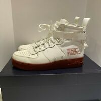 Nike SF Air Force 1 Mid Ivory/Maroon size 8.5