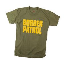 Short Sleeve Camo T-Shirt - BORDER PATROL on Olive Green - FREE SHIPPING