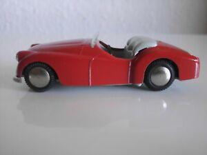TEKNO Denmark  Triumph TR 2   in rot      ca. 1954       sehr gut - Nr. 808