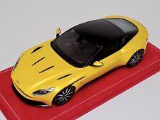 1/18 Top Speed Aston Martin DB11  in Sunburst Yellow 2017 TS0123 Alcantara base